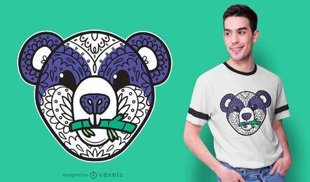 Diseño de camiseta de oso mandala