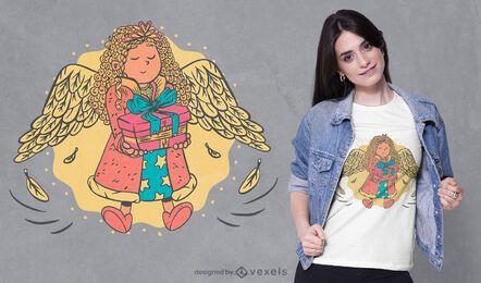 Design de camiseta de anjo