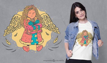 Diseño de camiseta angel girl