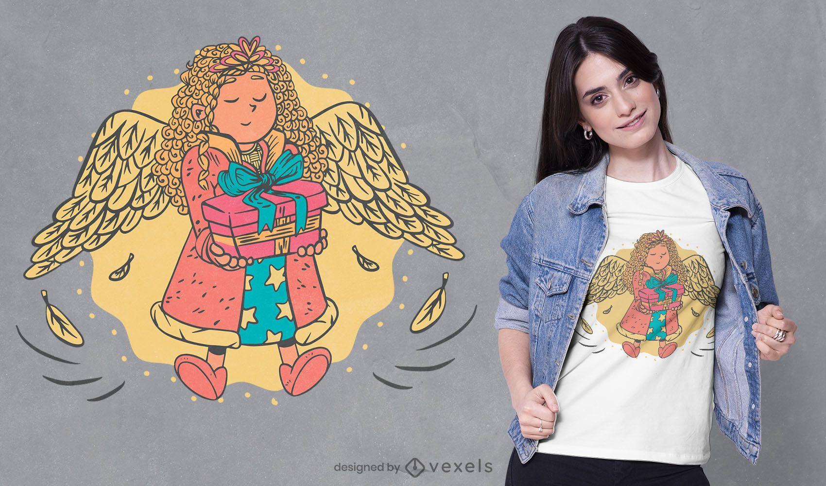 Diseño de camiseta angel girl