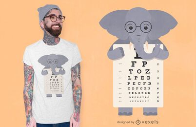 Elephant eye chart t-shirt design