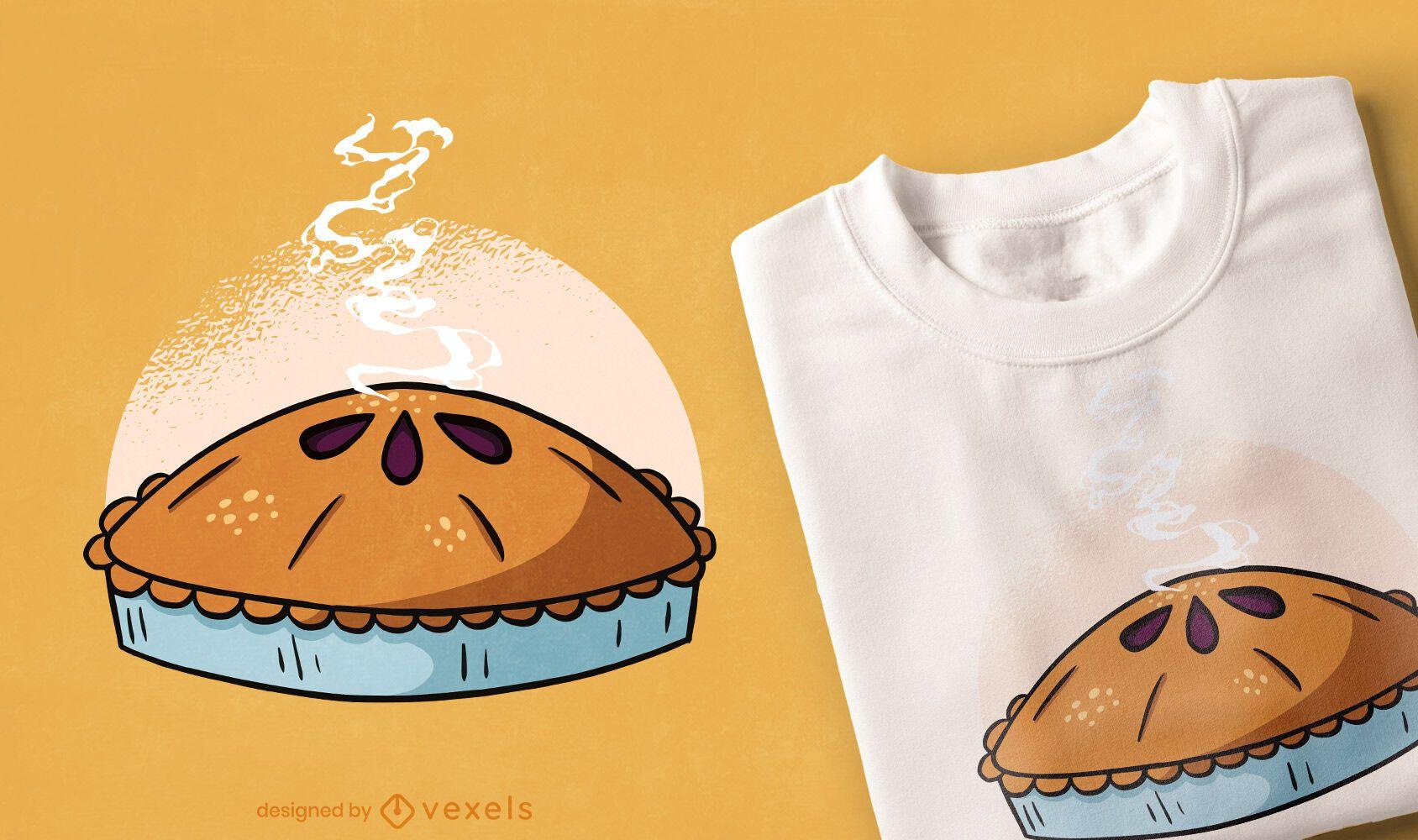 Diseño de camiseta de tarta de manzana