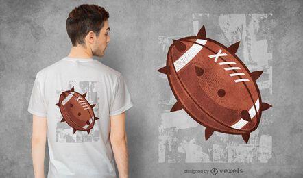 Diseño de camiseta de picos de fútbol.