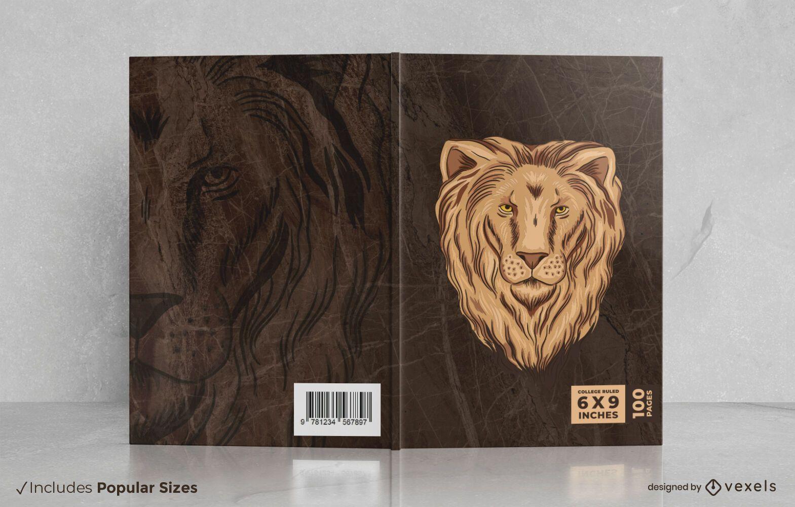 Design da capa do livro do le?o selvagem
