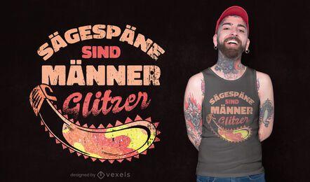 Sawdust glitter t-shirt design