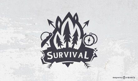 Plantilla de logotipo de supervivencia