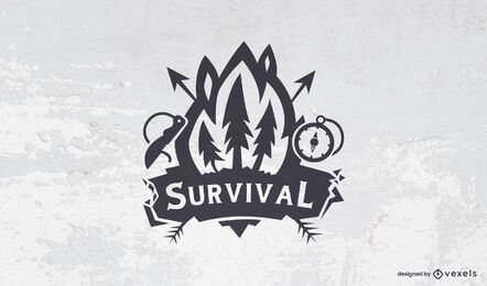 Survival logo template