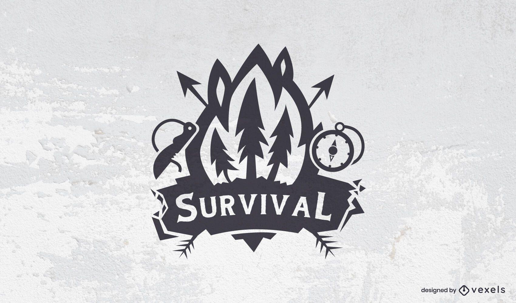 Survival logo template