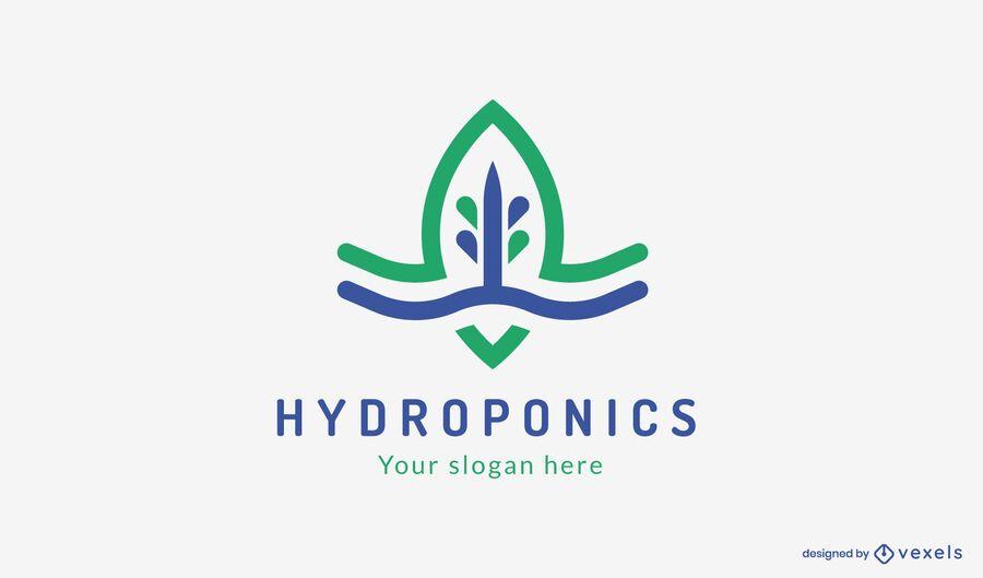 Plantilla de logotipo de hidroponía