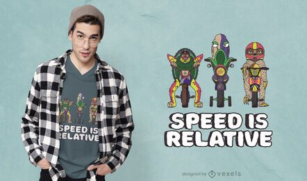Design de camiseta velocidade relativa