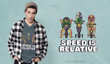 Diseño de camiseta de velocidad relativa