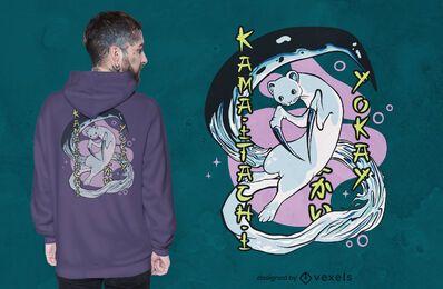 Diseño de camiseta Kamaitachi yokai