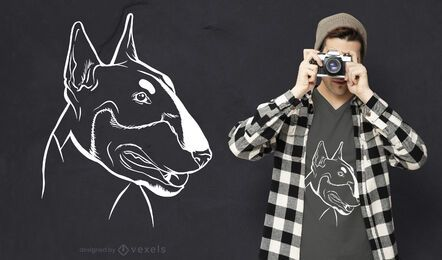 Bull terrier chalkboard t-shirt design