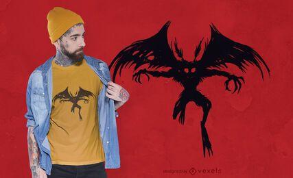 Diseño de camiseta Mothman