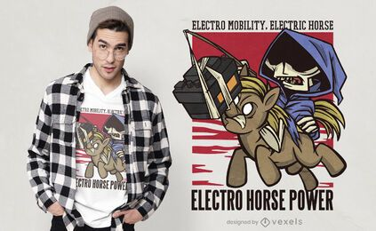Horse battery t-shirt design