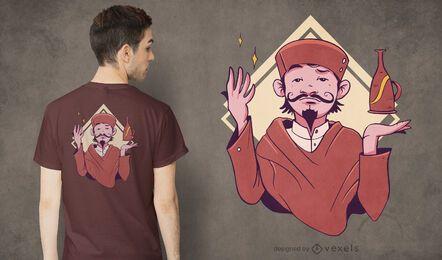 Design de camiseta para homem comerciante