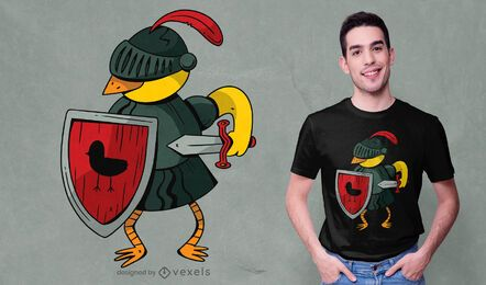 Design de camiseta canário Knight