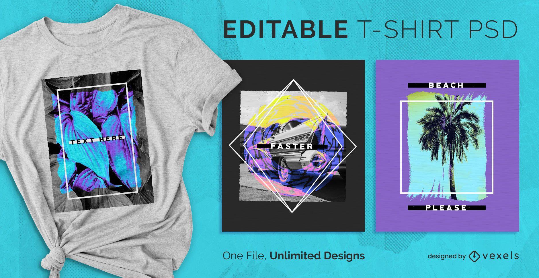Frame scalable t-shirt psd