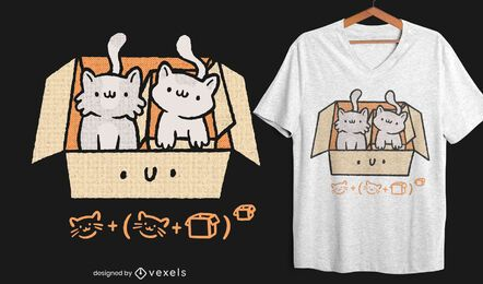 Box kittens t-shirt design