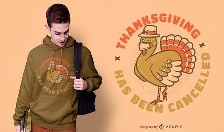 Design de camiseta cancelada para o Dia de Ação de Graças