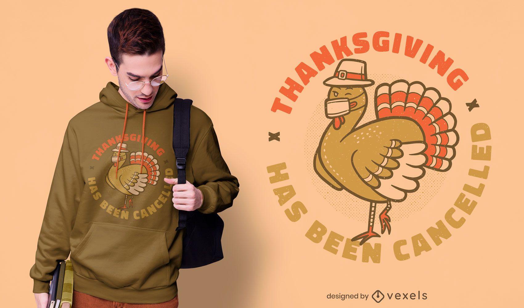 Cancelled thanksgiving t-shirt design