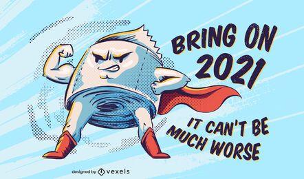 Anti 2020 Toilettenpapier Schriftzug