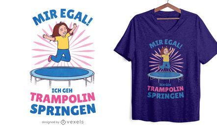 Diseño de camiseta de salto de trampolín.