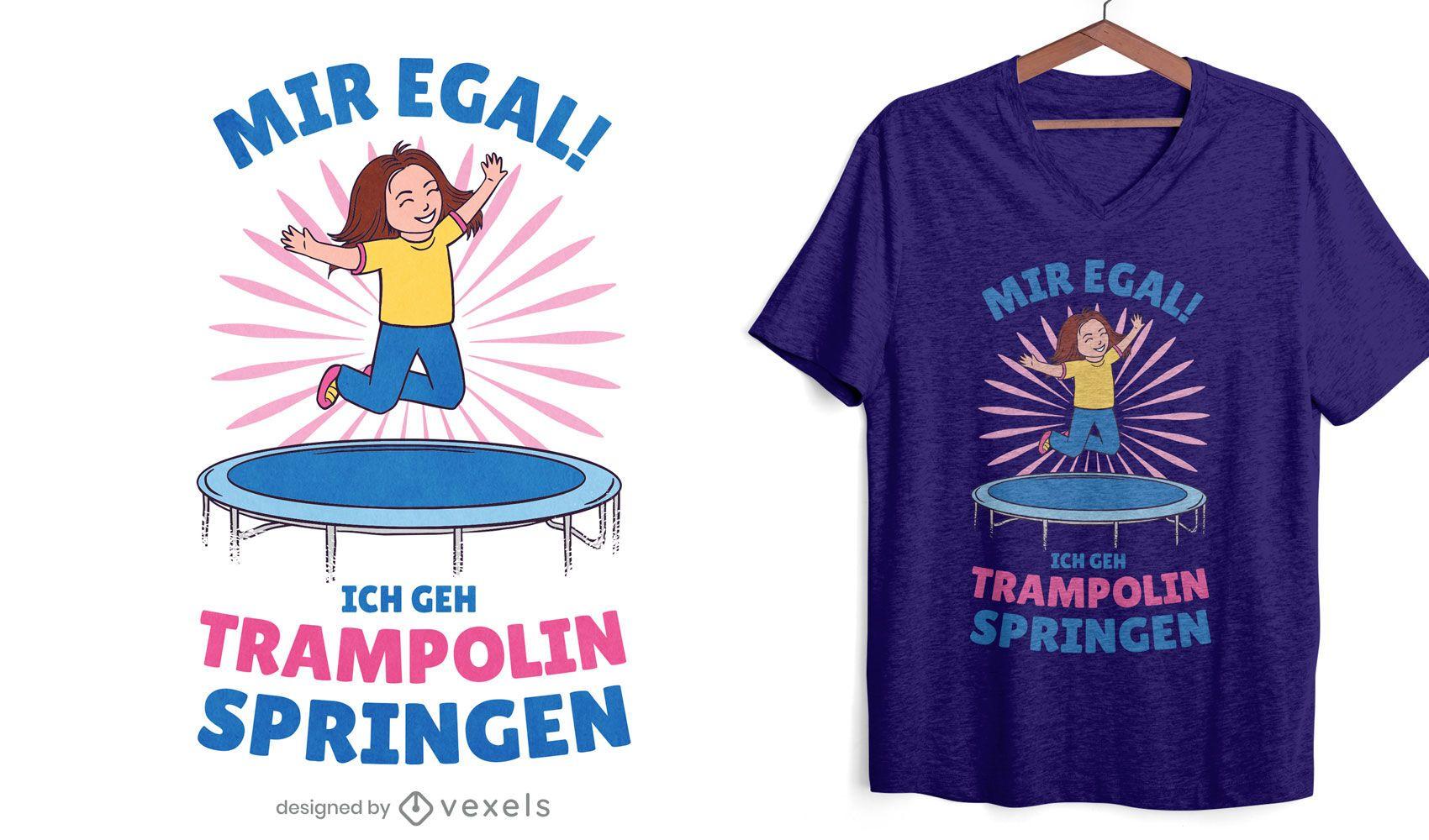 Trampoline jump t-shirt design
