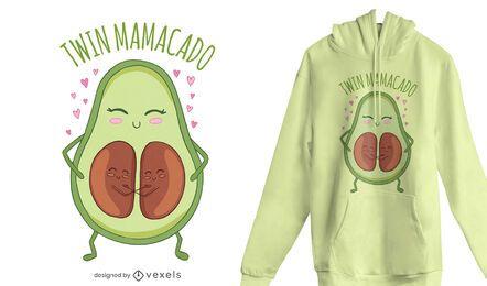 Diseño de camiseta twin mamacado