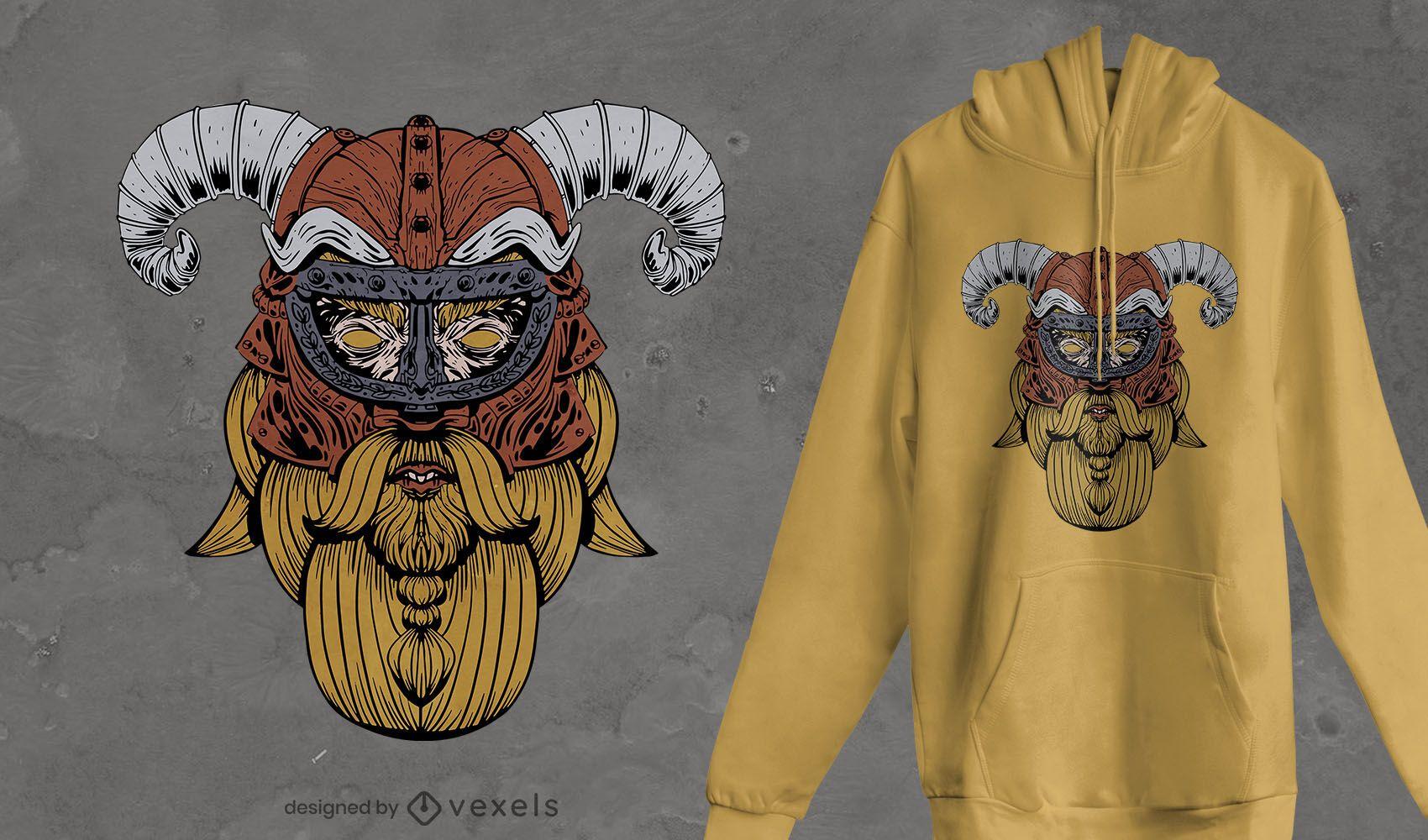 Viking face t-shirt design