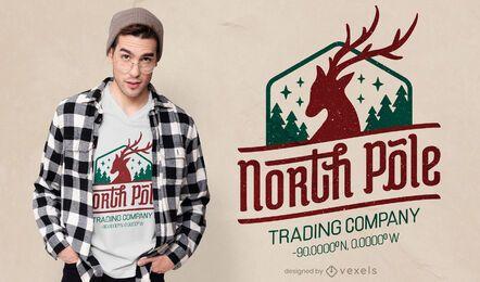 Diseño de camiseta de la empresa comercial del polo norte.