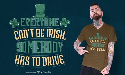 Irish quote t-shirt design