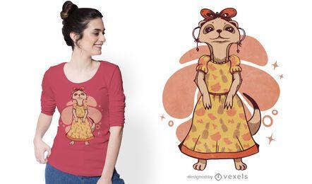 Design feminino de camisetas meerkat