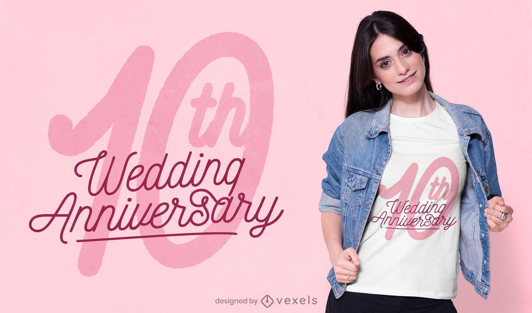 Design de camisetas de aniversário de casamento