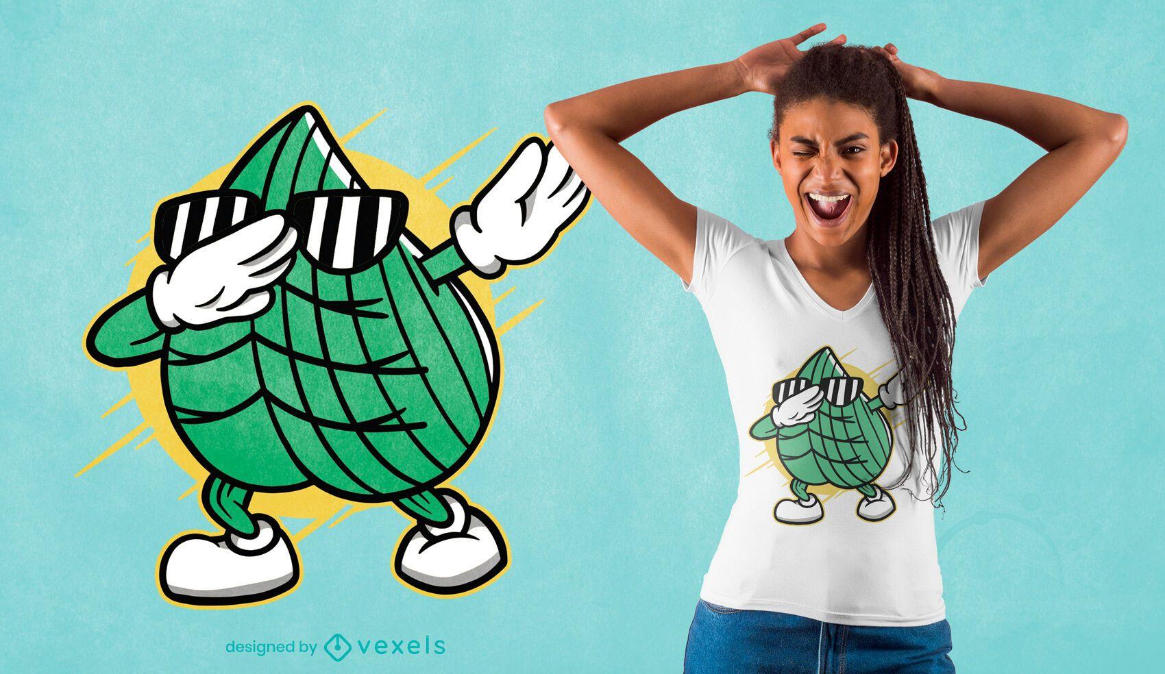 Gras dabbing t-shirt design