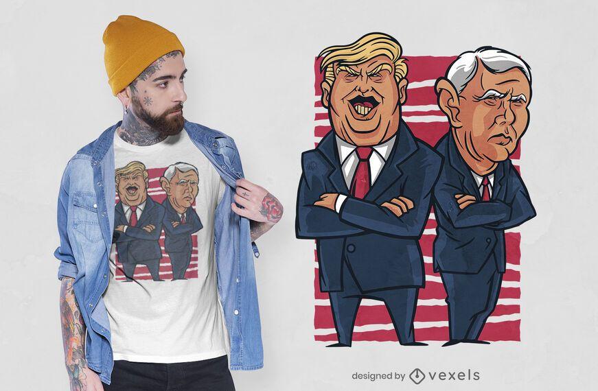 Diseño de camiseta Trump & Pence