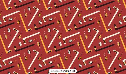 Diseño de patrón de elementos de hockey