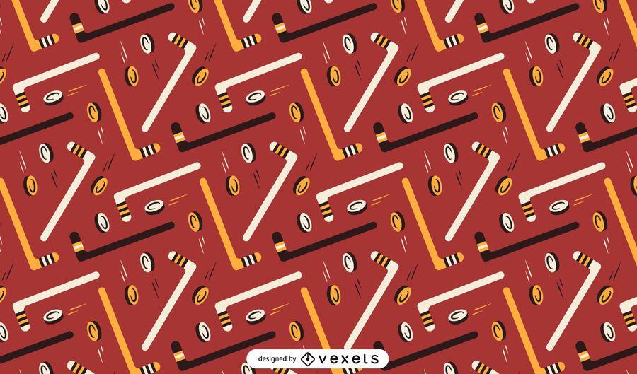 Hockey elements pattern design