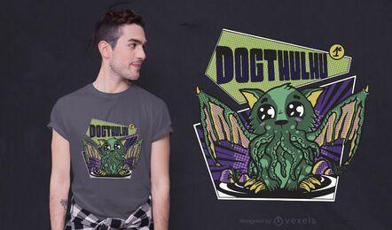 Design de camisetas Dogthulhu