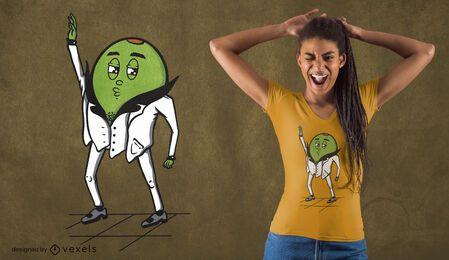 Diseño de camiseta disco oliva