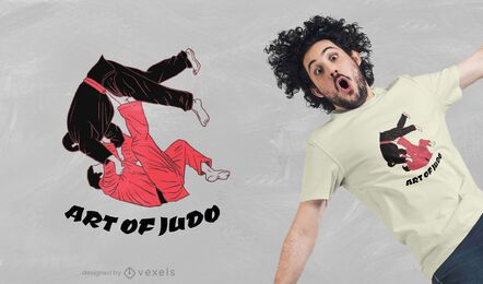 Judo art t-shirt design