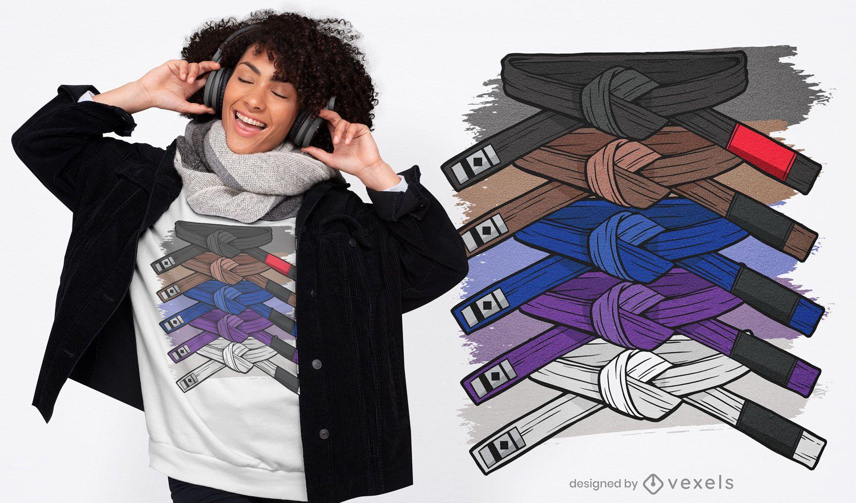 Judo art t-shirt design