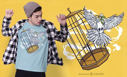 Diseño de camiseta de paloma gratis