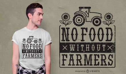 No food without farmers t-shirt design