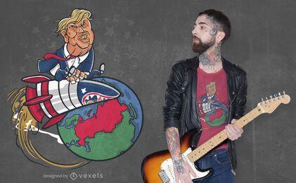 Diseño de camiseta de misiles Trump