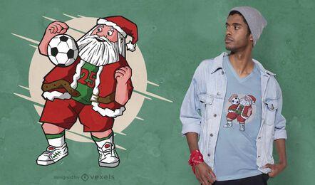Santa soccer t-shirt design
