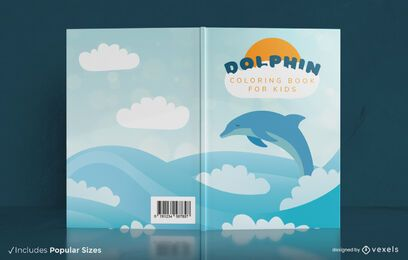 Swimming dolphin book cover design