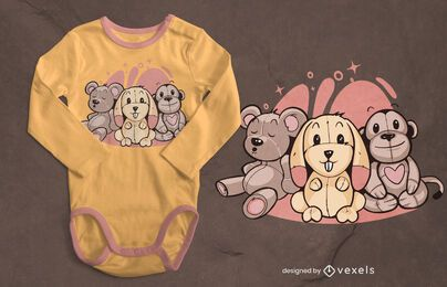Stuffed animals t-shirt design