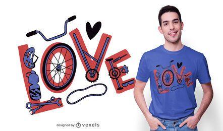 Diseño de camiseta de ciclismo de amor.