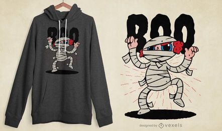 Diseño de camiseta infantil momia